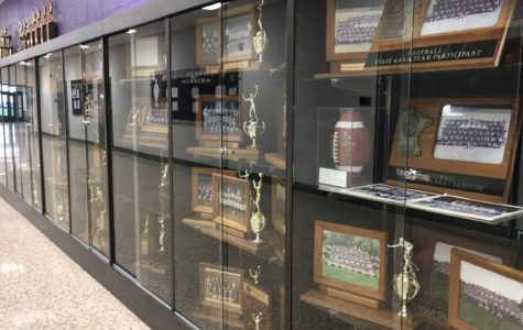 ITS NOT YOUR AVERAGE CASE - Here displayed is a small selection of New Ulm Senior High School's awards