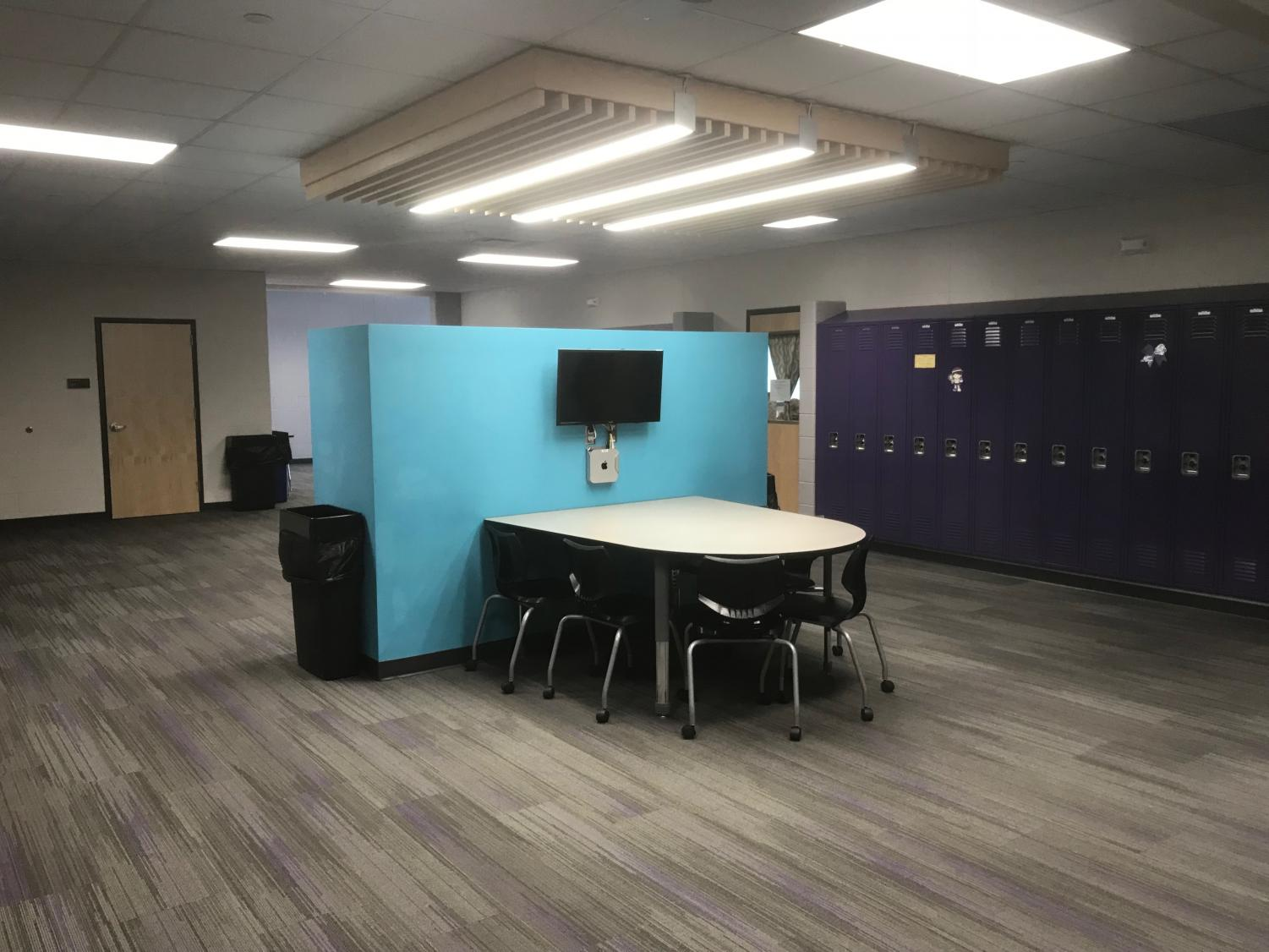 One of the student learning centers located on the second floor.