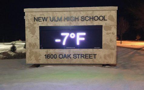 Still Rather Nippy at New Ulm High School