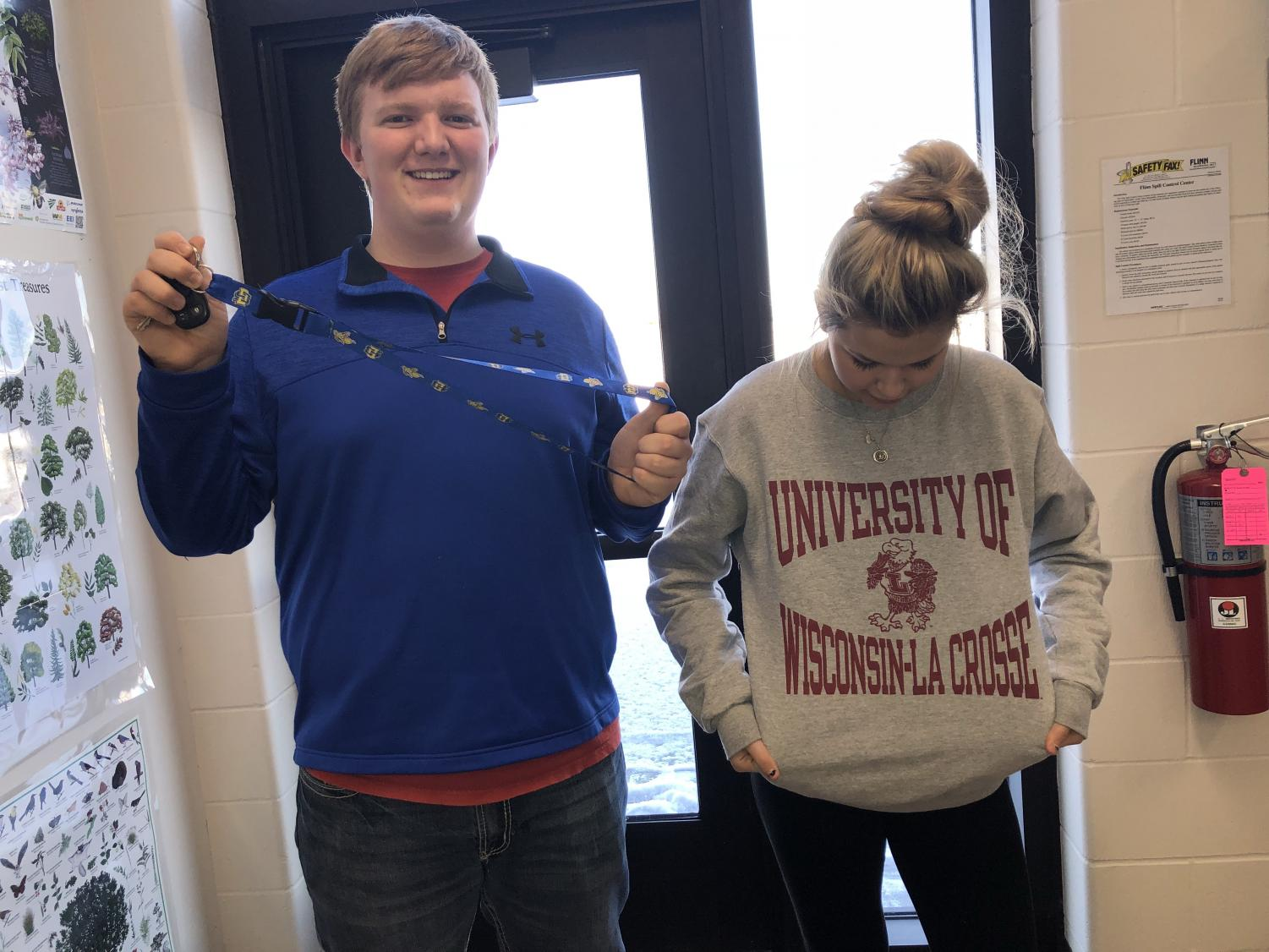 RAMSI & GRADEN sporting their future colleges gear