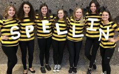 BUZZIN ABOUT- This group of Juniors left a la-sting impression with their well thought out costumes