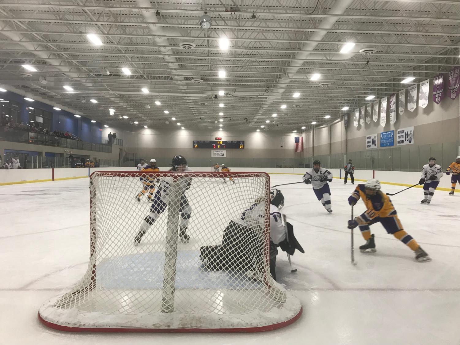 The New Ulm girls' hockey season is beginning. The team and fans are excited for another successful season.