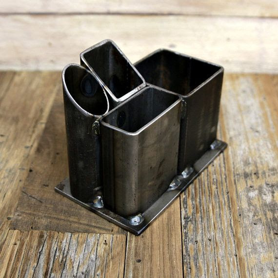 This multi-purpose pencil holder was fabricated by Landon Depew from New Ulm Welding and Fabricating.