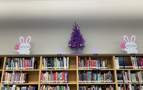 Easter is on its way in the Media Center at New Ulm High School!