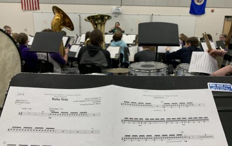 Peeking in at what the Band students are up to.