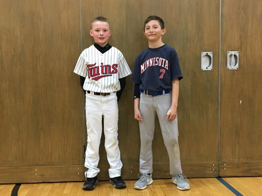 Students at the New Ulm elementary school dressed in Twins gear to show their support at the start of the baseball season