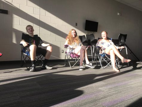 Lawn chairs, chillin' – summer must be near