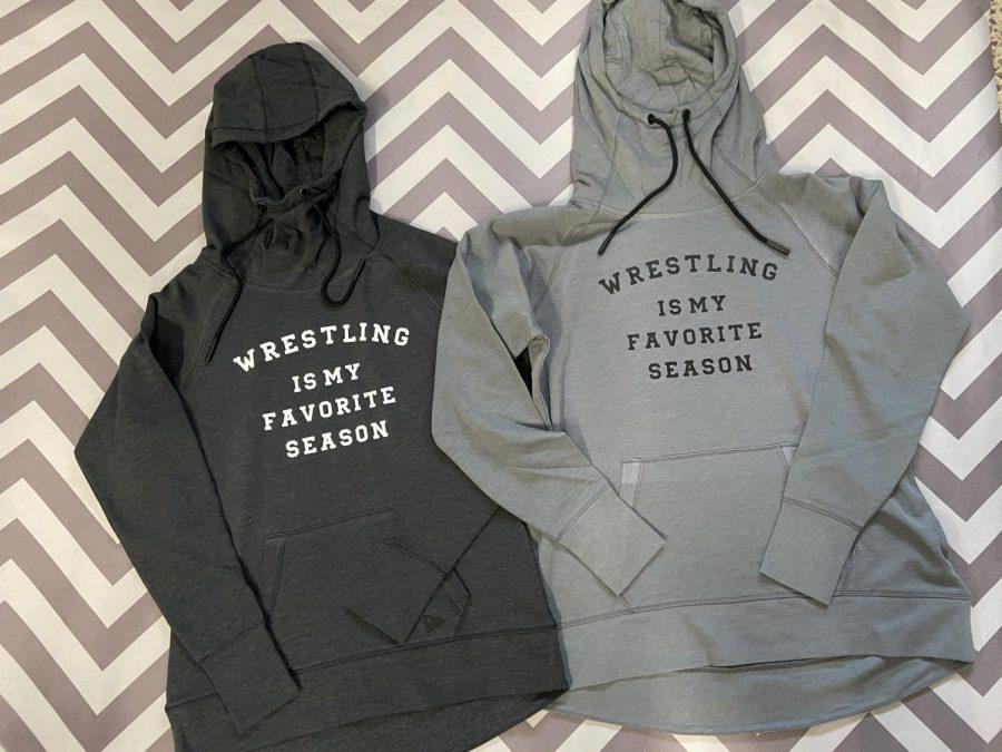 Customized wrestling sweatshirts made by Eagle Enterprises