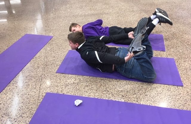 Yoga at the Health Fair