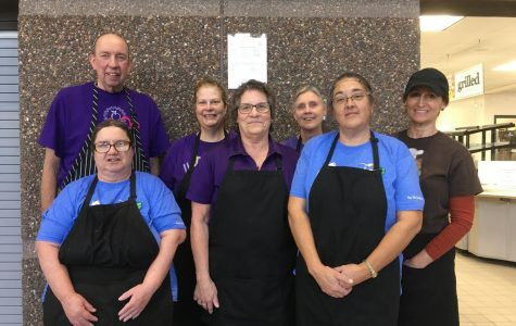New Ulm Public High School Lunch Staff Get Together for a Group Photo