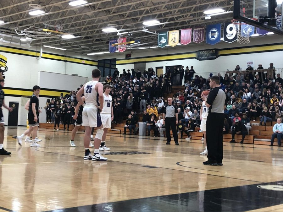 Connor Slette (Junior) Getting Ready for a Free Throw