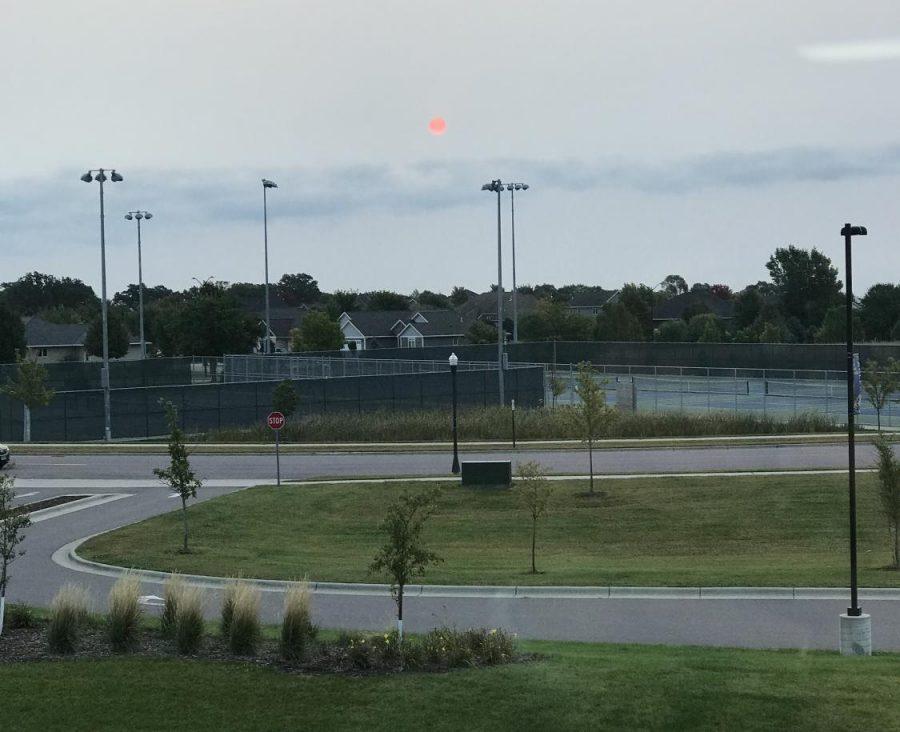Sunrise over New Ulm High School