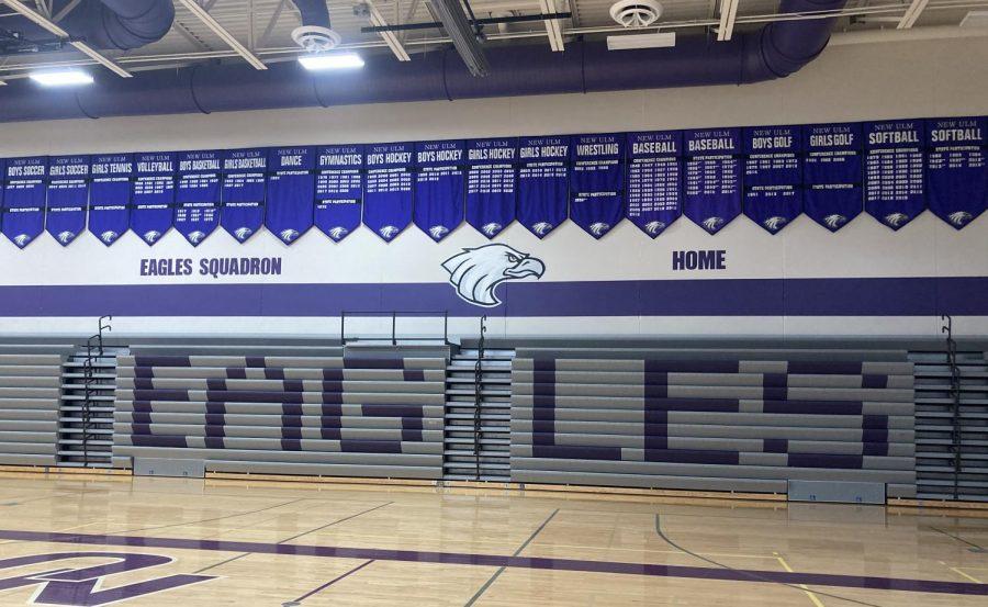 Silent gym in New Ulm High School.