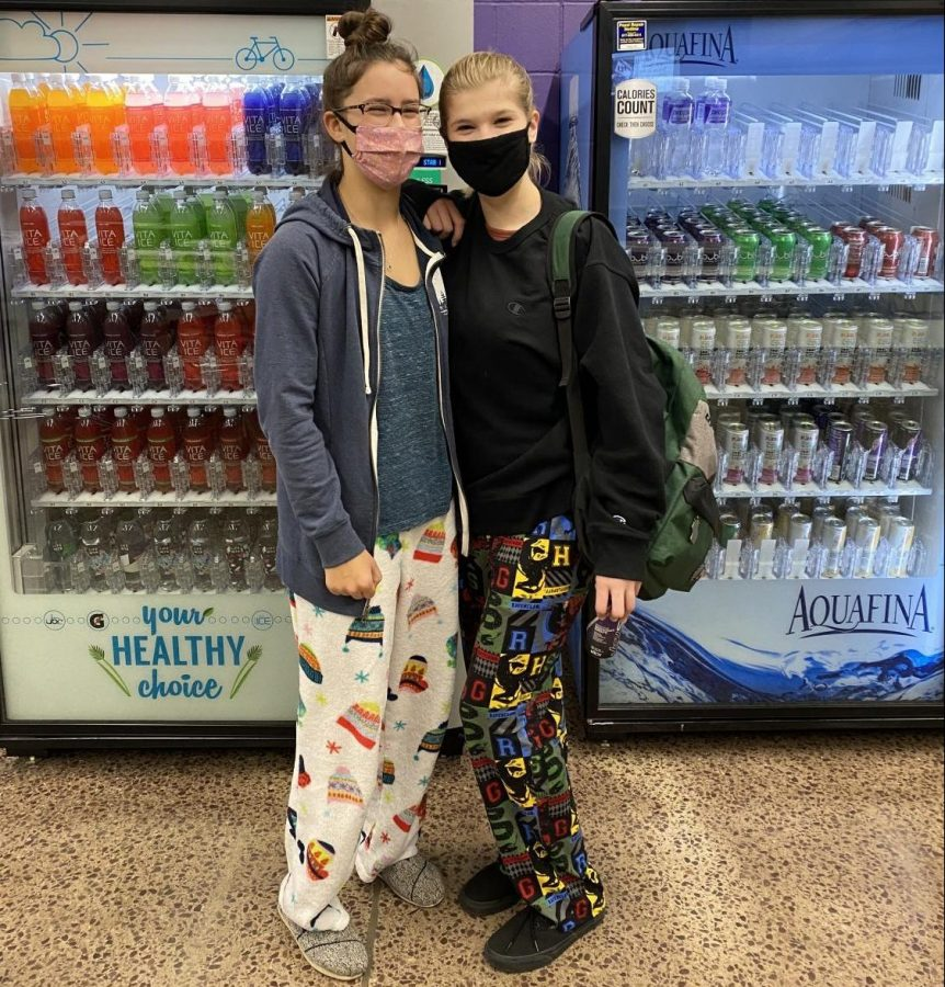 Claire Hoffman and Danielle Sowers Participate in 2020 Homecoming Dress Up Day. This years 2020 homecoming week had been postponed in September, and Students are excited to be participating in this not so normal high school experience. Danielle Sowers states that she