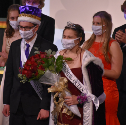 "Isaac Davis and Abby Hietala earned the honor of winning the 2020 New Ulm High School Homecoming King and Queen. The two school favorites accumulated more votes than anyone else from the senior class in order to come out on top. The ceremony was held in the school auditorium with about 50 parents in attendance. ""It was kind of a bummer that we couldn"