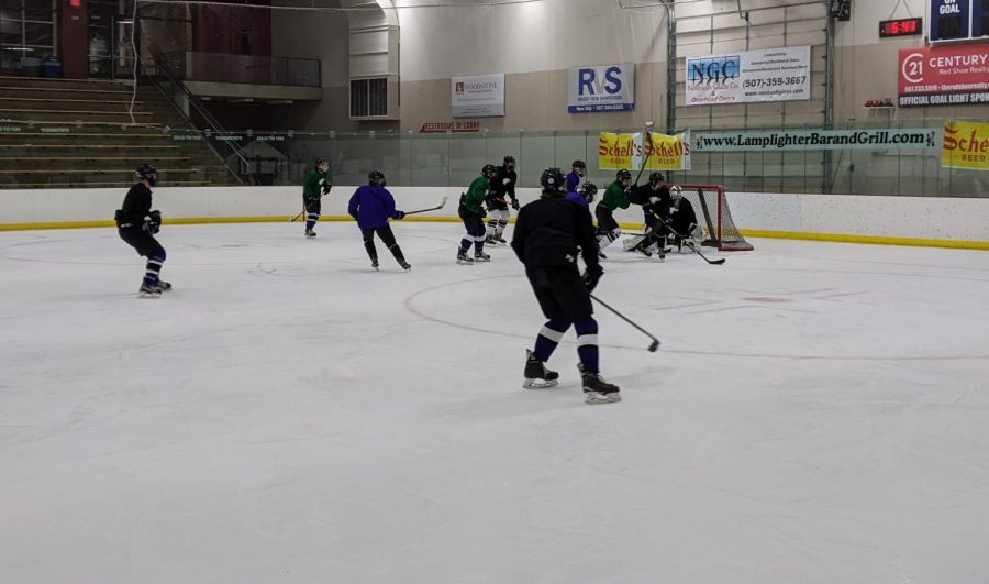 Winter sports were given the go-ahead to start this season with the addition of new rules being put in place. The first is that all players are required to wear a mask on ice at all times, and the second is a reduced capacity for fans to spectate.