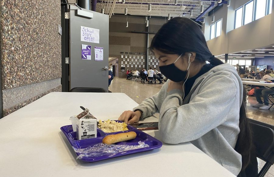 Gabriela Hernandez, a student who eats at the school