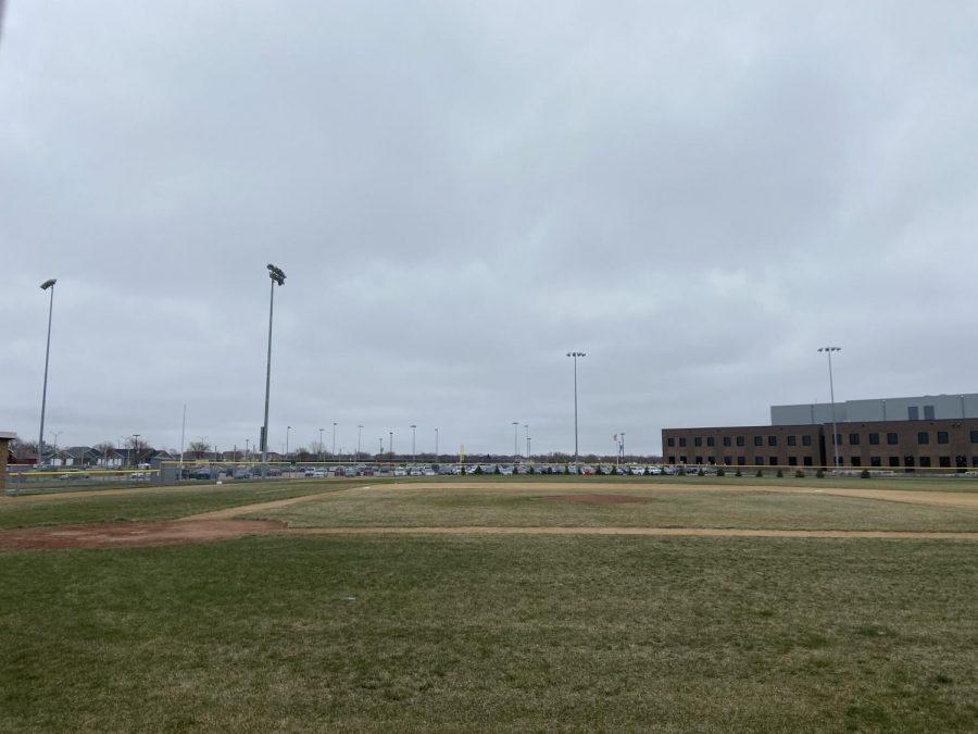 The varsity baseball field at NUHS