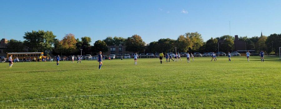The Girls Soccer Team played Mankato Loyola on Tuesday night.